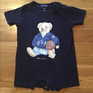 RALPH LAUREN Polo Bears one piece outfit